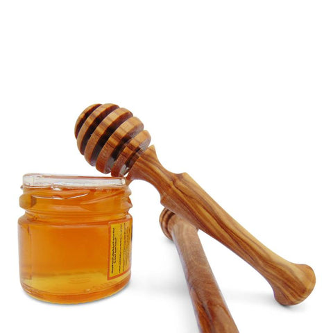 Olive Wood Honey Dipper Drizzle
