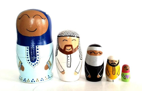 Little Muslim Nesting Dolls Set