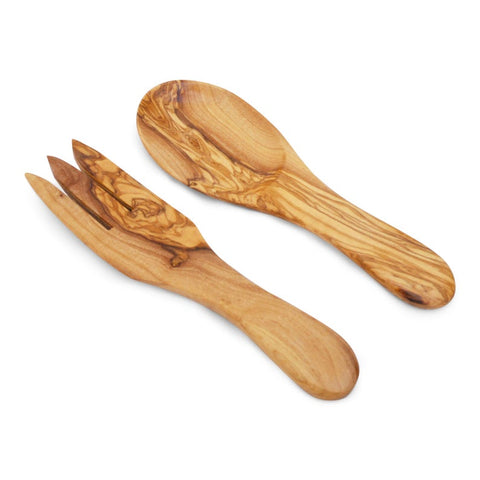Olive Wood Salad Servers Spoons Utensils