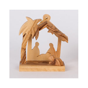 Olive wood - Small Nativity