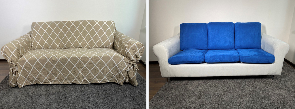 loose fit vs stretch tight slipcover