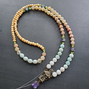 Custom mala for Deepa's mom's reiki friend