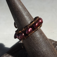 Maida Copper and Pearl Ring - Sacred Skaia