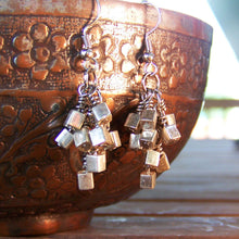 Picasso Bold Silver Cube Earrings - Sacred Skaia