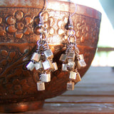 Picasso Bold Silver Cube Earrings