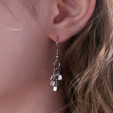 Picasso Silver Cube Earrings