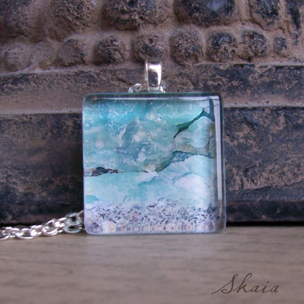 Aqua Rocky Beach Necklace - Sacred Skaia