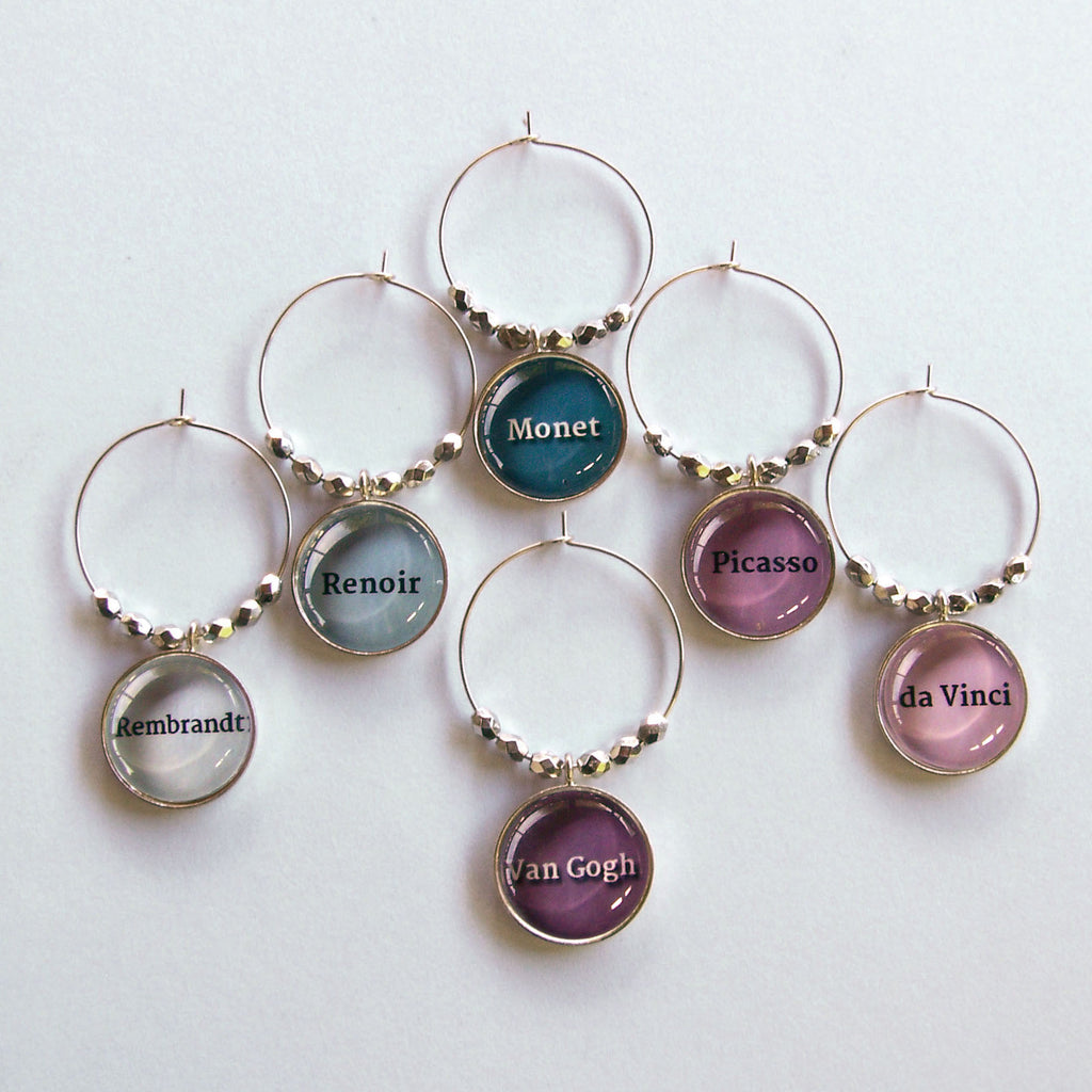 Artists Wine Charms