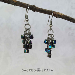 Aurora Borealis Cube Earrings - Sacred Skaia