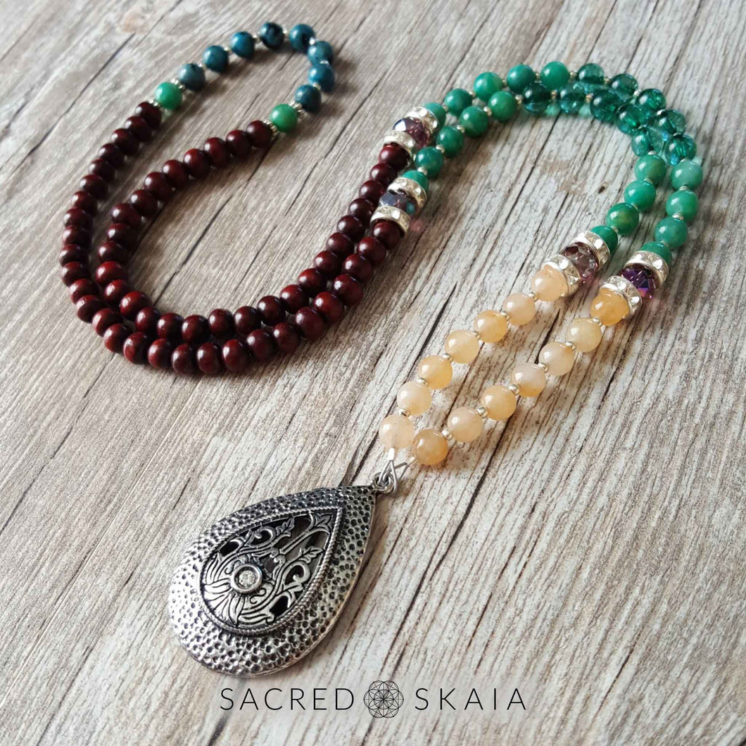 Peace: A petite heirloom mala