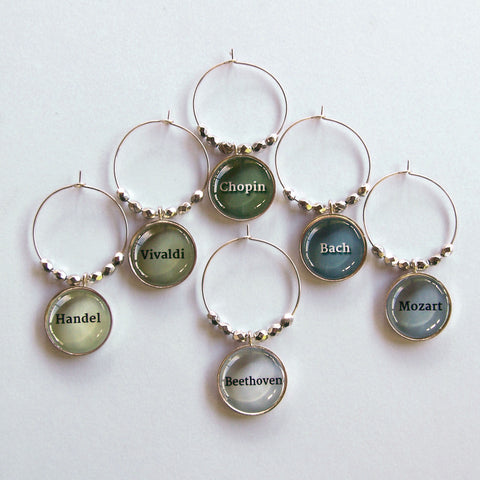 Composers Wine Charms