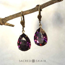 Fortuna Teardrop Earrings in Antique Pink - Sacred Skaia