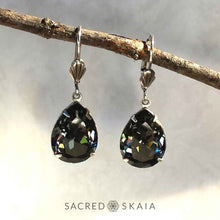 Fortuna Teardrop Earrings in White Opal - Sacred Skaia