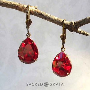 Fortuna Teardrop Earrings in Amethyst - Sacred Skaia