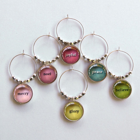 Holiday Wine Charms
