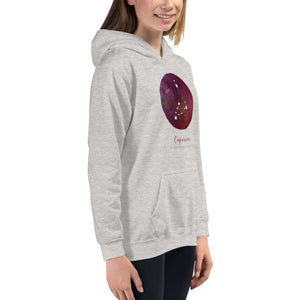 Capricorn Kids Hoodie by Bella + Canvas