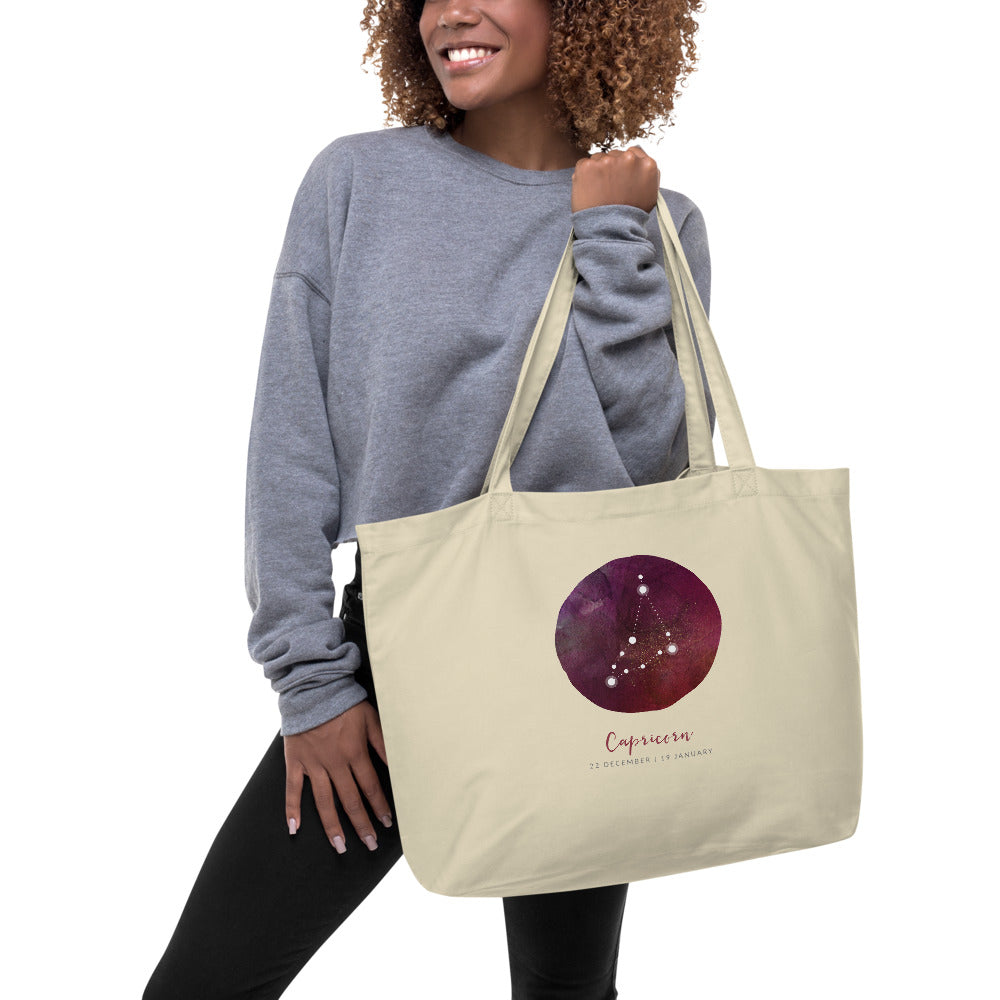 Capricorn large organic tote bag