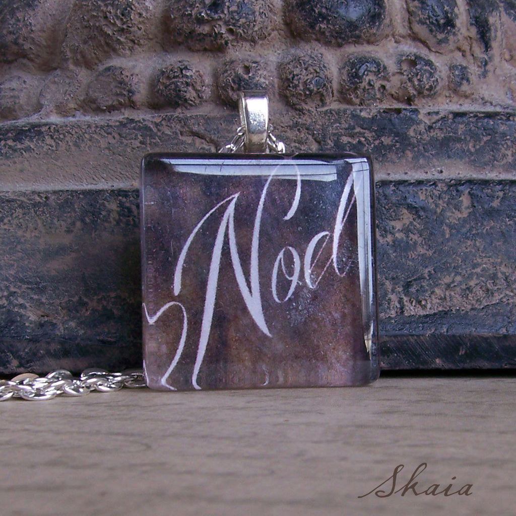Noel Script Necklace