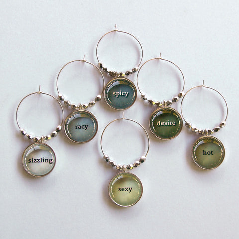 Racy Words 1 Wine Charms