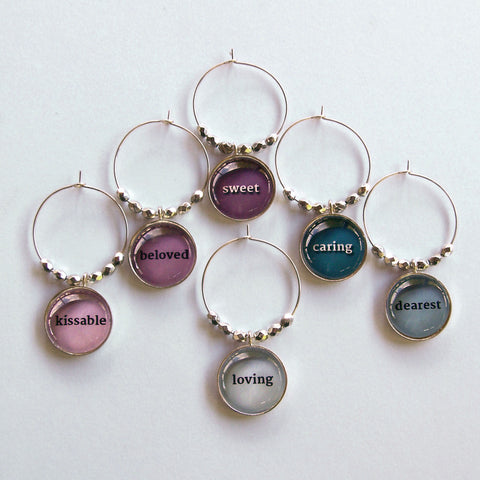 Sweet Romance Wine Charms