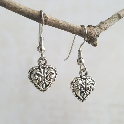 Sensual Goddess Heart Earrings