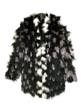 Load image into Gallery viewer, Black Dyed Feathered Fox Reversible Jacket