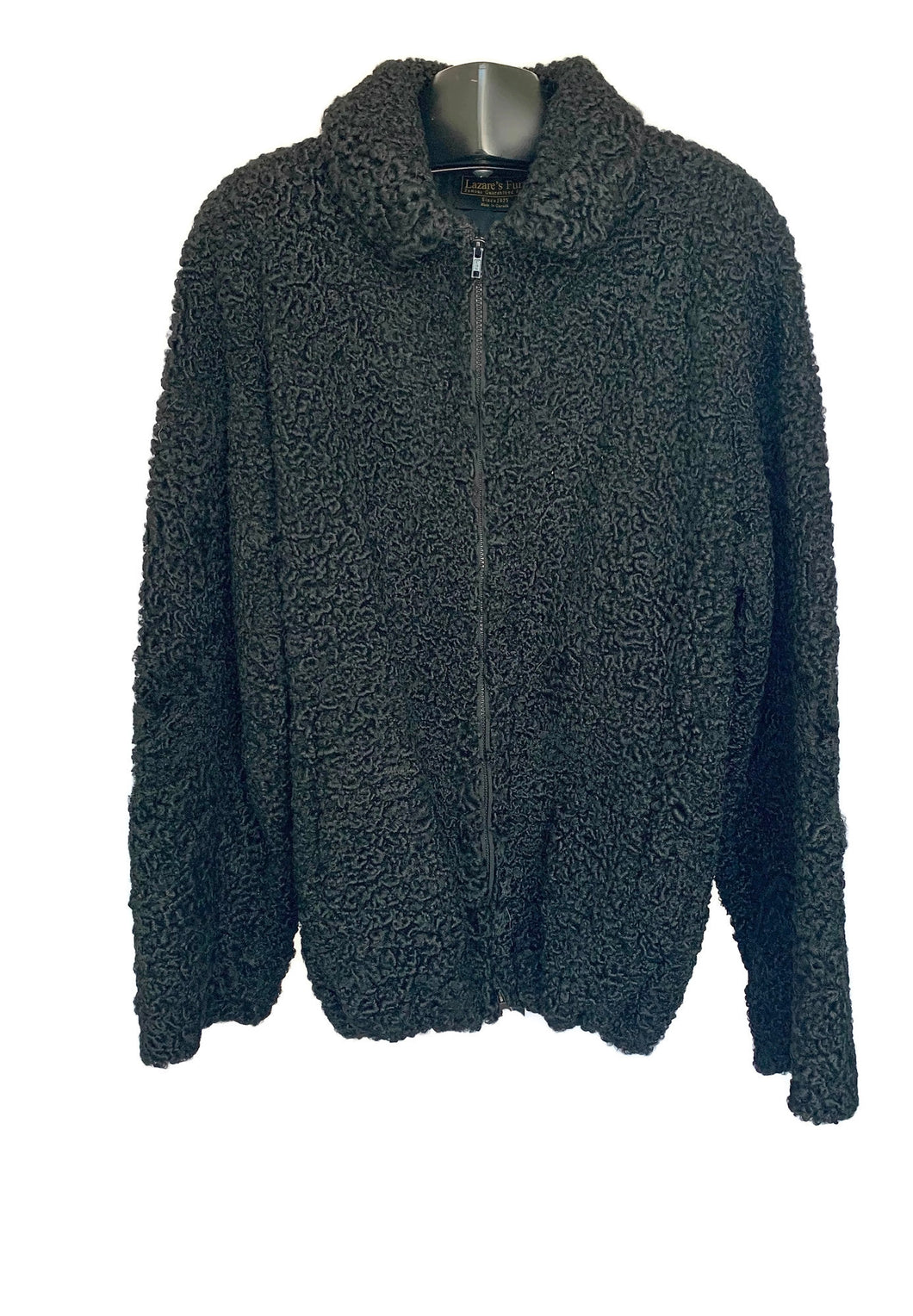 Black Persian Lamb Bomber Jacket