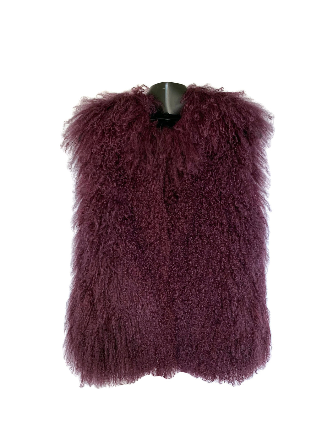Purple Mongolian Lamb Vest