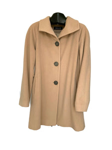 Camel Cashmere & Wool Wing Collar Jacket