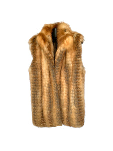 Red Fox Feathered Vest