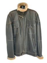 Load image into Gallery viewer, Men's Brown Nappa Leather Aviator Jacket