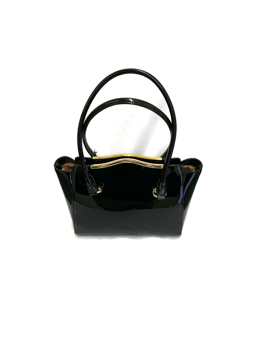 Black Marina Leather Tote Bag