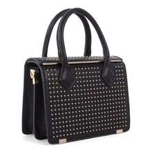 Load image into Gallery viewer, Black Celine Dion Minor Gold Stud Bag