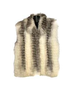 Silver Shadow Fox Feathered Vest