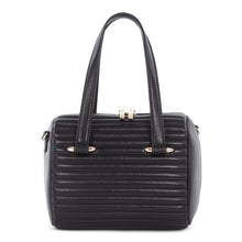 Load image into Gallery viewer, Black Celine Dion Vibrato Leather Satchel Bag