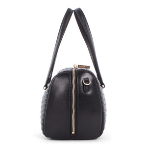 Black Celine Dion Vibrato Leather Satchel Bag