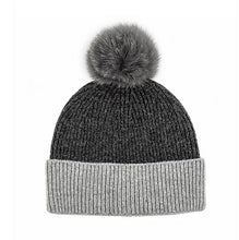 Load image into Gallery viewer, 2 Color Wool Beanie W/ Fox Pom