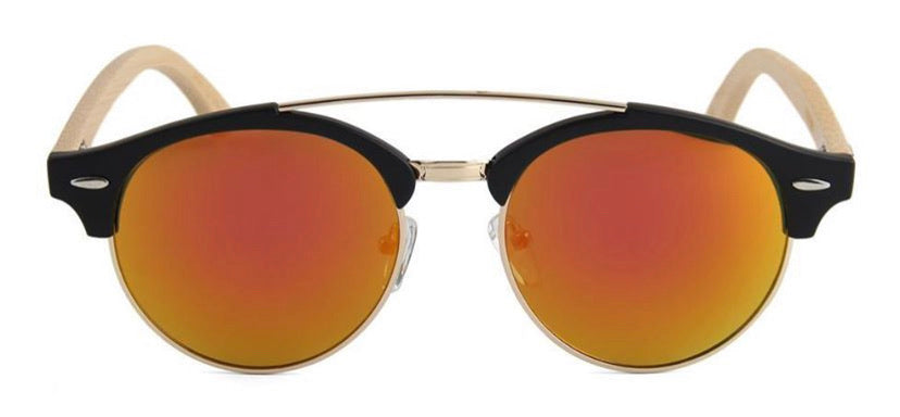 Gold Mirrored Larch Sunglasses