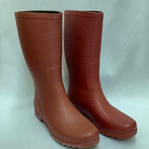 Ladies Crimson Logo Short Rainboot