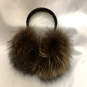 Blush Dyed Raccoon Earmuffs