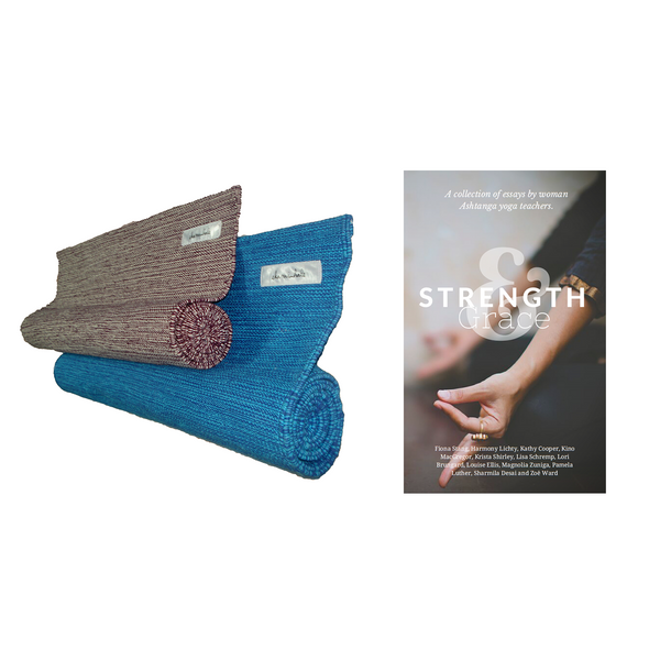 2 Organic Yoga Rug + Strength & Grace Book
