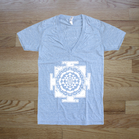 Sri Yantra Deep V-Neck Shirt