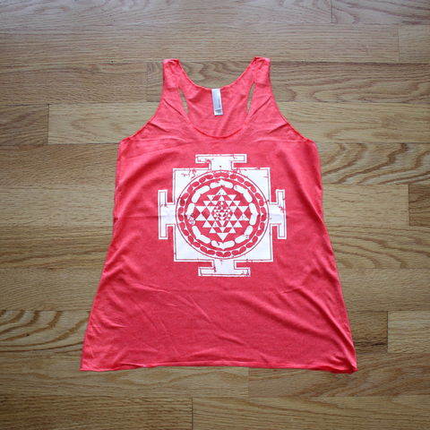 Sri Yantra Racerback Tank Top Vintage Red