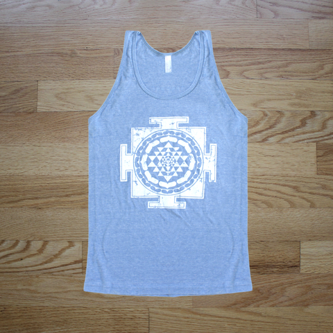 Sri Yantra Unisex Tank Top Blue