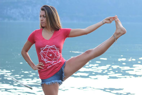 Heart Chakra T shirt - Women's V-neck
