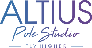 Altius pole studio logo blue and purple gradient