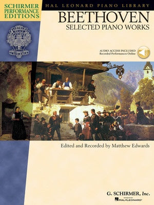 Beethoven : Selested Piano Works Bk/CD