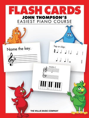 John Thompson Easiest Piano Course Flash Cards