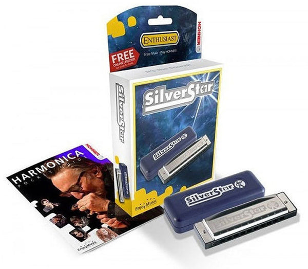 Hohner Enthusiast Series Silverstar Harmonica in the Key of C