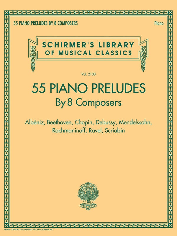 55 Piano Preludes by 8 Composers